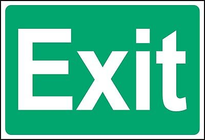 SAFETY SIGN Emergency And Fire Escape Signs - Adhesive Waterproof Vinyl Sticker • 1.95£