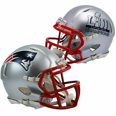 $34.95 • Buy New England Patriots Super Bowl 53 LIII Champions Speed Mini Football Helmet