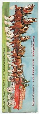 $ CDN31.70 • Buy 1940s Budweiser Beer Double Advertising Postcard Of Clydesdales & Wagon