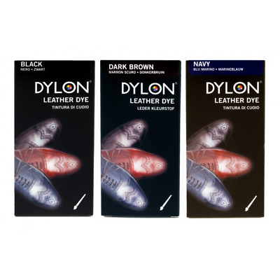 Dylon Leather Shoe Dye With Applicator Brush 3 Colours 50ml Bottle • 7.70£