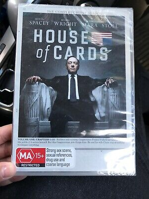 AU10.99 • Buy 💕House Of Cards The Complete First Seasons DVD NEW Kevin Spacey Region 4💕