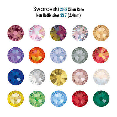 Ss7 Swarovski 2058 Flat Back Crystals Non Hotfix In A Large Range Of Colours • 35.30£