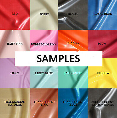 £2.99 • Buy Samples Of Latex Sheet Fabric By Radical Rubber & 4D Rubber, All Colours/Gauges