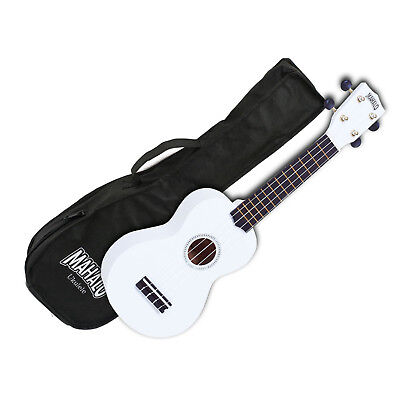 AU39.45 • Buy Mahalo Ukulele MR1WT Rainbow Series WHITE Soprano Ukulele Aquila Strings Gig Bag