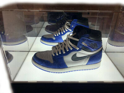 LED Lighted Basketball Mens Jordan 1 Shoe Clear Acrylic Display Cases Mirrored  • 79.99$