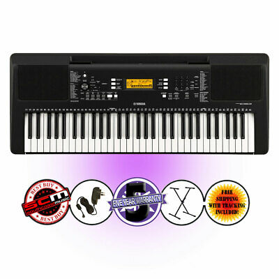 AU489 • Buy YAMAHA PSRE363 Portable Keyboard + Stand +  Adapter - 61 Note Keyboard