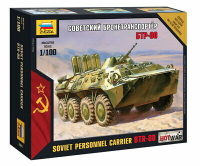AU14.50 • Buy Zvezda 1/100 Soviet Personnel Carrier BTR-80
