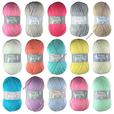 CYGNET WOOL BABY PATO DK YARN 100g BALL ACRYLIC WOOL BABY DOUBLE KNIT KNITTING • 3.25£