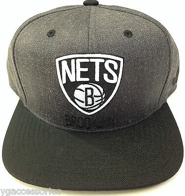 NBA Brooklyn Nets Adidas Originals Gorra Plana Gris   Negro Osfa • 24.20€ 4305345c391
