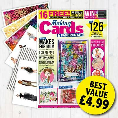Making Cards Magazine March 2019 Fashionista & Mandalas Papers & Parchment Mag • 4.99£