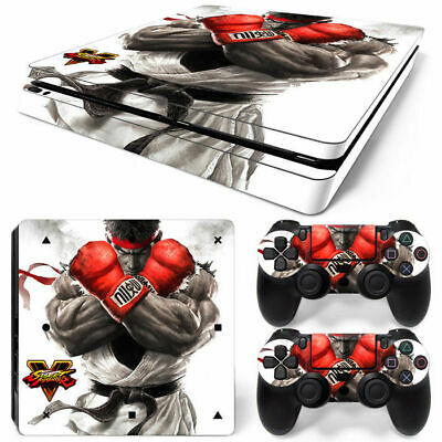 AU22.88 • Buy Street Fighter PS4 Playstation 4 Slim Console Controller Skin Sticker Brand New