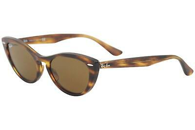 $165 • Buy Ray Ban Nina RB4314N RB/4314 954/33 Striped Brown Cat Eye RayBan Sunglasses 54mm