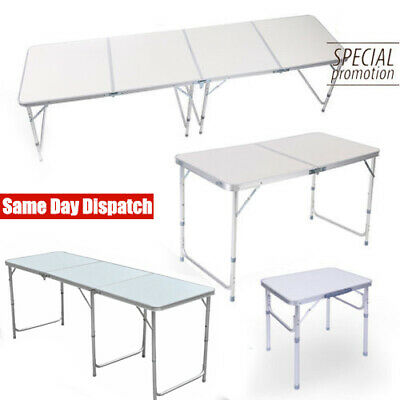 2/4/6FT Folding Table Picnic Camping BBQ Party Banquet Market Garden Portable UK • 30.99£