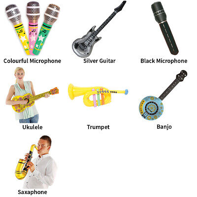 Inflatable Musical Instruments Festival Party Accessories - Choose Your Design • 4.80£