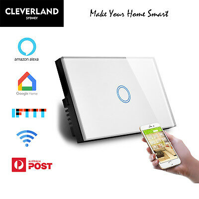AU52.50 • Buy AU Standard Smart WiFi Light Switch Touch Panel 1/2/3/4 Gang Google Home Alexa