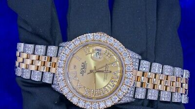 $ CDN13034 • Buy Rolex Date Just 2 Tone 36mm Steel & Gold Watch 11 Carat Diamond Iced Out Watch