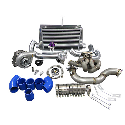 AU1739 • Buy Auturbo T3 Turbo Intercooler Kit Manifold + Downpipe For Corolla AE86 4AGE