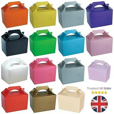 £4.14 • Buy 10 X Food Lunch Boxes Cupcake Gift Party Loot Bag Wedding Children Birthday Kids
