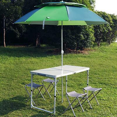 Kitchen Dining Garden Outdoor Picnic Camping Folding Portable 4 Chairs Table Set • 29.99£