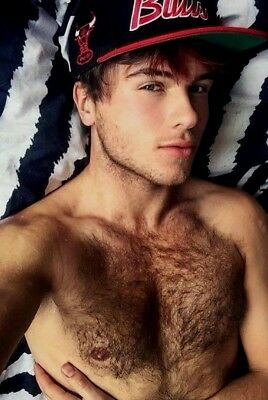 $ CDN3.88 • Buy Shirtless Male Muscular Cute Handsome Hunk Hairy Chest Beefcake PHOTO 4X6 F1443