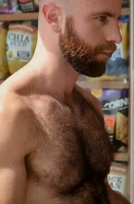 $ CDN4.26 • Buy Shirtless Male Beefcake Hairy Chest Beard Beefy Hunk Jock Dude PHOTO 4X6 F1457