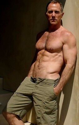 $ CDN3.64 • Buy Shirtless Male Muscular Older Beefcake Dude Hairy Chest Hunk PHOTO 4X6 C1456