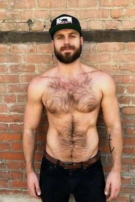 $ CDN4.43 • Buy Shirtless Male Muscular Hairy Chest Beard Abs Hunk Beefcake PHOTO 4X6 F1786
