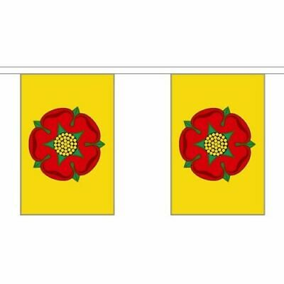 Lancashire Rose County Bunting 20 Flags 6 Metres British English Counties Banner • 9.95£
