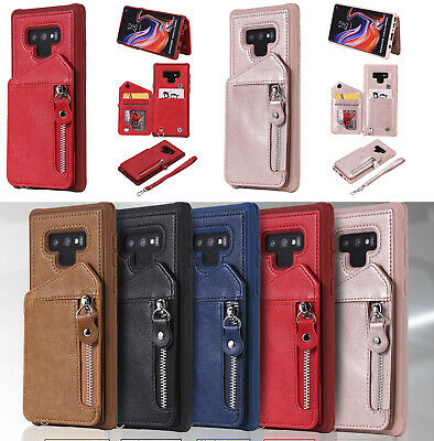 AU13.10 • Buy Premium Zipper Hybrid Wallet Leather Armor Clasp Case With Card Holder For Phone