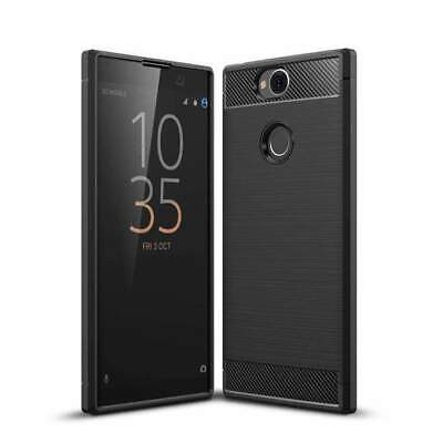 $ CDN13.34 • Buy AMZER Rugged Armor Carbon Fiber Design ShockProof TPU For Sony Xperia XA2 Plus