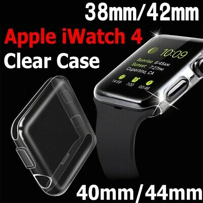 $ CDN3.28 • Buy For Apple Watch Series 4 3 2 1 IWatch 40/44mm Clear TPU Screen Protector Case CA