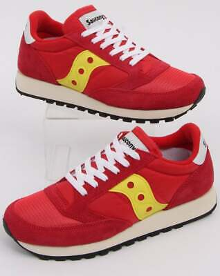 Saucony Jazz Original Vintage In Trainers In Red & Yellow - Retro Runners • 49£