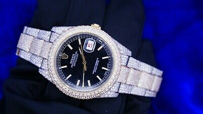 $ CDN26427.70 • Buy ROLEX DATEJUST 36mm 2Tone Watch Ref 126233 2110 Diamonds 20 Cts Fully Iced Out