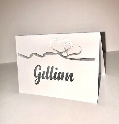 £1.45 • Buy Personalised Wedding Place Cards Table Setting Name Stickers Decals In Silver