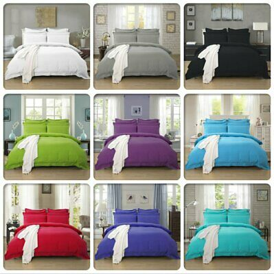 AU28.99 • Buy 1000TC Tailored Duvet/Doona/Quilt Cover Set Doubl/Queen/King/Super King Size Bed