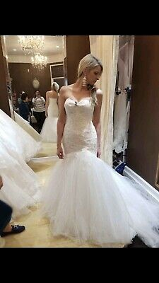 5832e0ea2b8 Blue By Enzoani Trumpet Style Ivory Wedding Gown • 1