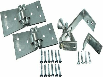 NEW 1  Counterflap Catch Satin Chrome -2 Hinges+ Screws Incl. 102x32x38Mm • 17.64£
