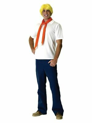 Mens Adult Licensed SCOOBY DOO Fred Costume Outfit • 49.75£