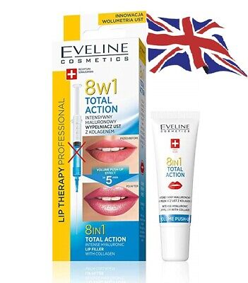 Eveline 8in1 Total Action Intense Hyaluronic Lip Plumper Booster Serum Push-Up • 6.95£