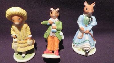 Fitz & Floyd Franklin Mint Woodmouse Family Winsome, Alexander, Violet 3 Figures • 10.62$