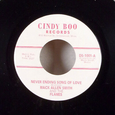 $4.79 • Buy Mack Allen Smith And The Flames Carroll County Blues 7  45 Cindy Boo FUZZ VG+