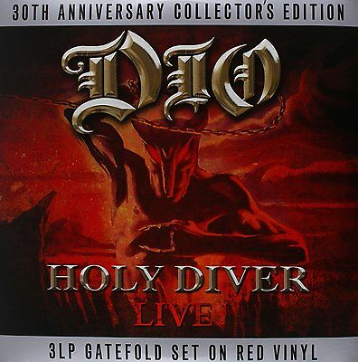 HOLY DIVER DIO 30th ANNIVERSARY COLLECTOR'S EDITION - 3 LP GATEFOLD RED VINYL • 22.75£