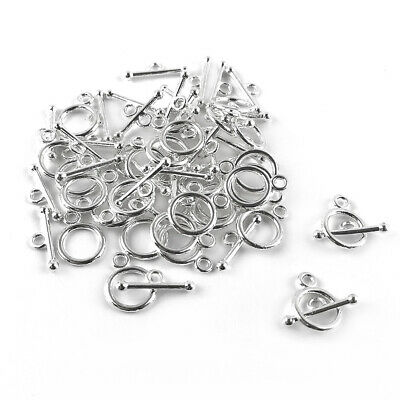 £3.19 • Buy Metal Alloy Clasps & Toggles Silver Round 10x14mm Pack Of 30