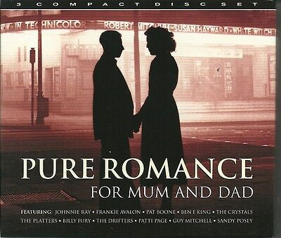 Pure Romance For Mum And Dad - 3 Cd Box Set - Johnnie Ray, Pat Boone & More • 3.99£