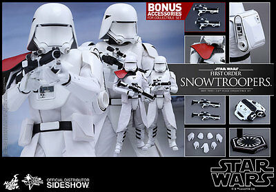 $ CDN495 • Buy Hot Toys Star Wars FIRST ORDER SNOWTROOPERS 12  Figure Set 1/6 Scale MMS323
