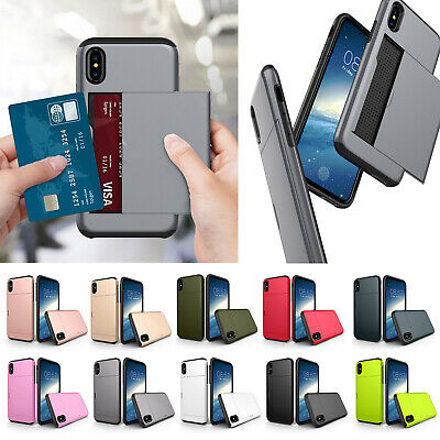 AU16.10 • Buy Card Holder Armor Hybrid Case Back Cover For IPhone XS MAX XR XS/X 5 6S/7/8 Plus