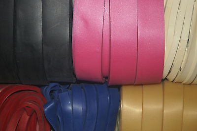 £1.30 • Buy 0.50mm Latex Trim / Strapping, Various Colours/Widths - 2M Strap Or 10M Pack