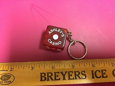Las Vegas Key Chain Dice With The Name Ashley's • 5.99$