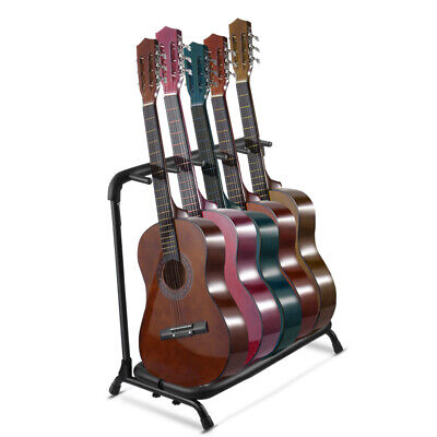 $ CDN60.31 • Buy Guitar Stand Rack Holder, Multi Electric & Acoustic Guitar Organizer Hold For 5