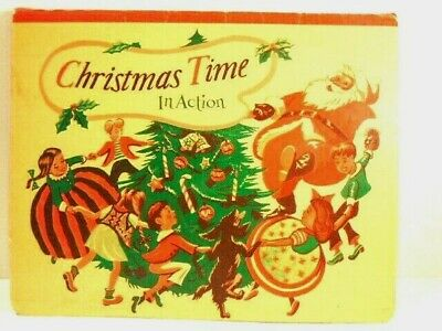 $ CDN19.34 • Buy Vintage Christmas In Action 1949 Illustrated Children's Book With Pop-ups
